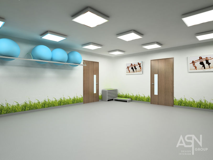 Дизайн проект фитнес центра